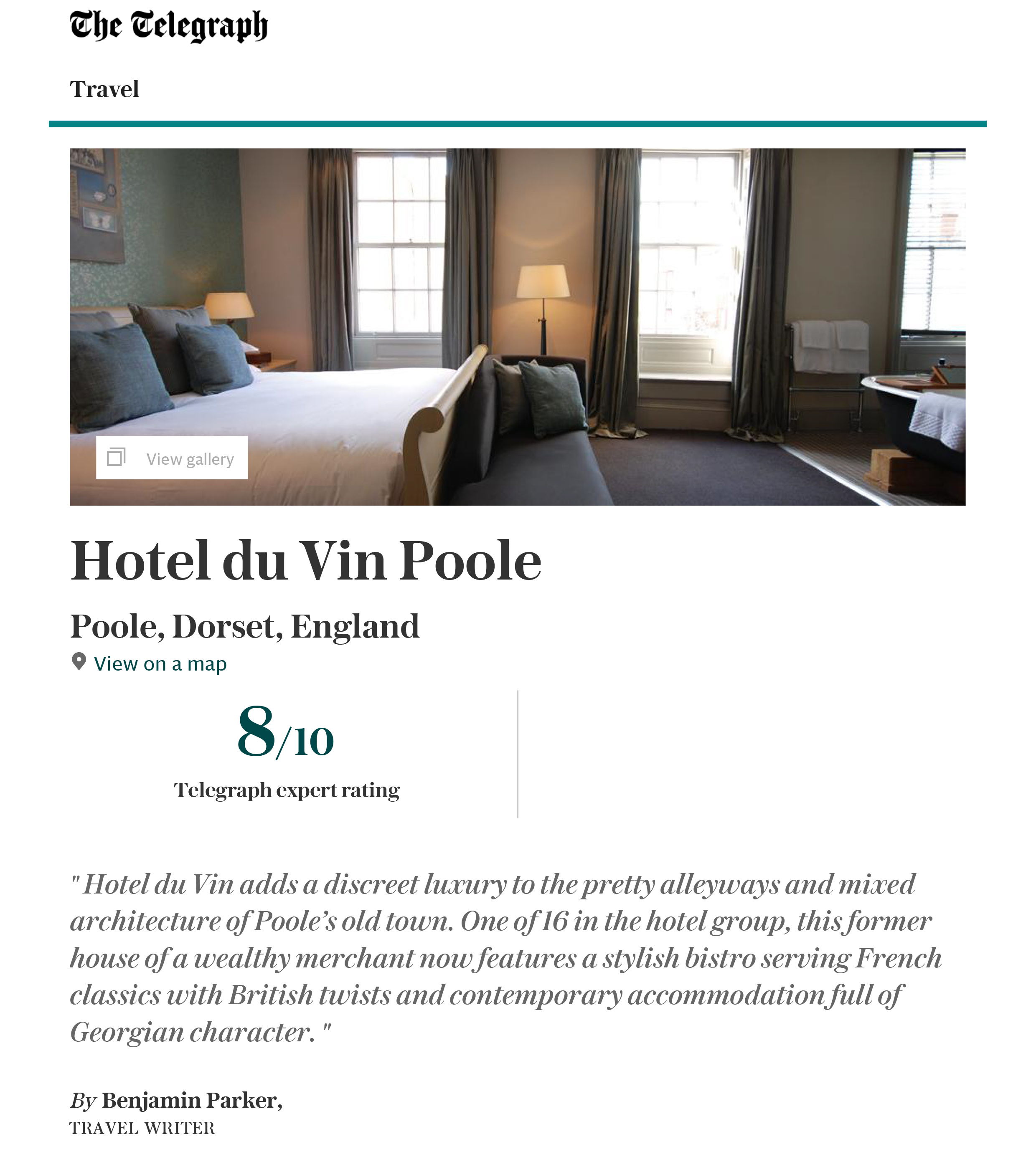 Hotel Du Vin Review - thumbnail