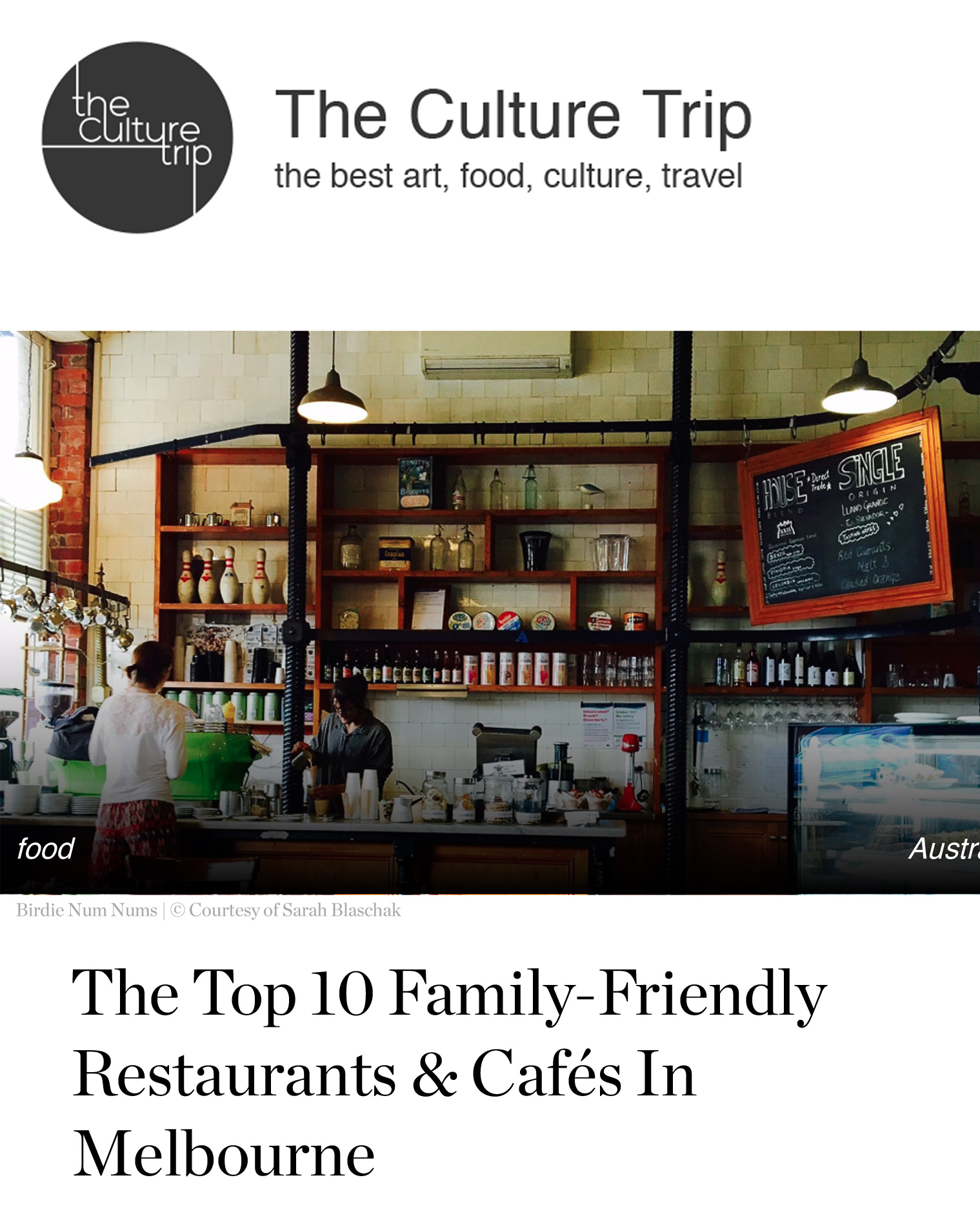 Top 10 Family Friendly Restaurants in Melbourne THUMBNAIL
